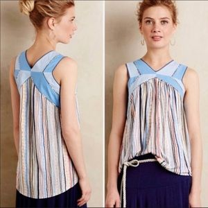 One September Anthropologie tank top blouse size M